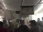 Passenger videoed escape from plane.