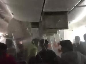 Inside Emirates plane after crash