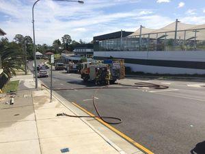 Crash ruptures gas pipe