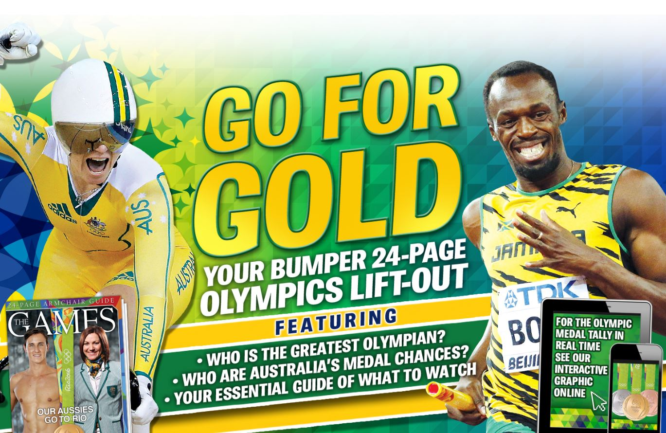 Get our full Olympic coverage in this bumper 24 page liftout