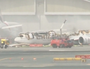Emirates plane crash lands