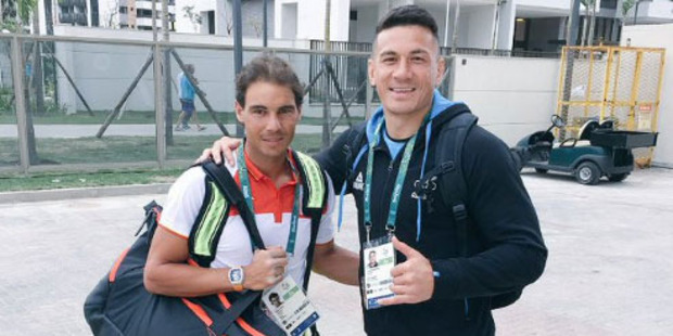 Olympic sevens star Sonny Bill Williams pictured with Spanish tennis legend Rafael Nadal. Photo / Twitter