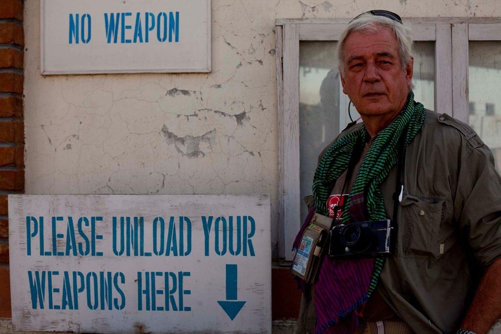 Tim Page in Herat, Afghanistan. Taken by Barat Ali Batoor.