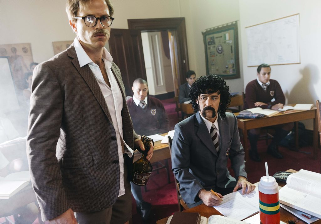Christiaan Van Vuuren and Nick Boshier as the Kiwi Assassins in a scene from the TV series Soul Mates.