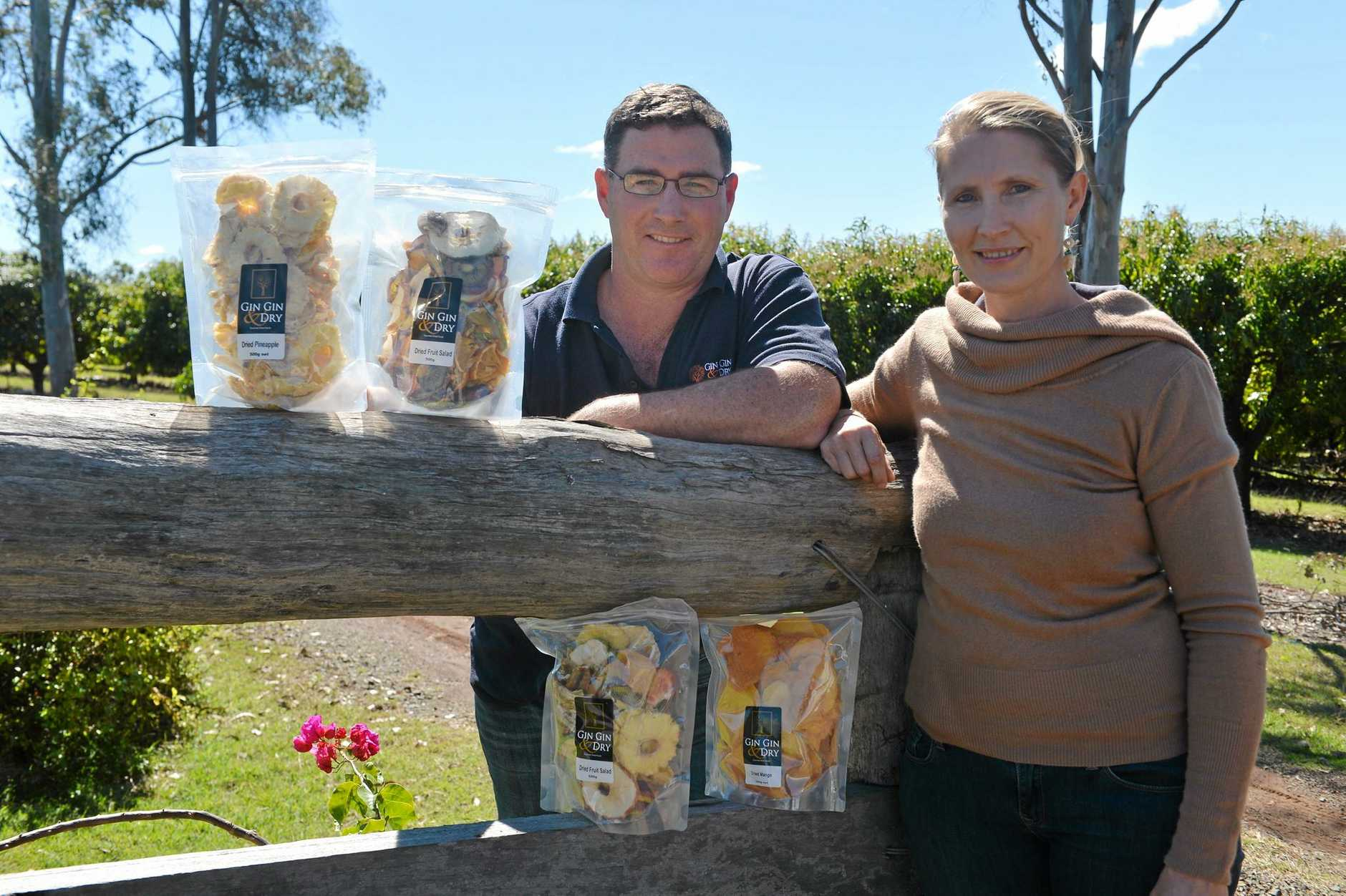 TASTY TREATS: Gin Gin & Dry owners Muppi and Cameron Dean will be expanding their processing facility. Photo: Paul Donaldson / NewsMail