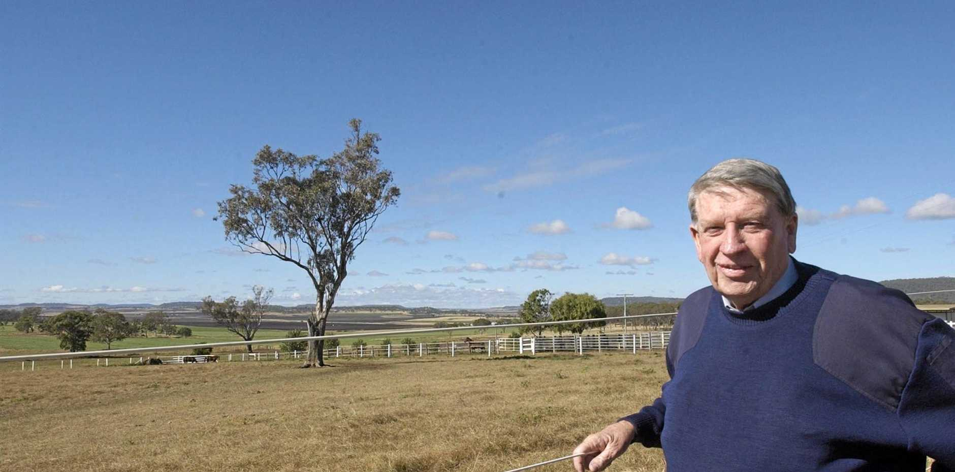 The late Colin McAlpine pictured at Eureka Stud.