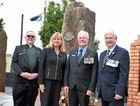 MONUMENTAL ACHIEVEMENT: Major Graeme Davis, Richmond MP Justine Elliot, Byron Bay RSL Sub Branch President Robert Asquith and Acting State President RSL NSW John Haines.