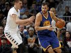 Andrew Bogut made his NBA return with the Warriors. (AP Photo/David Zalubowski)