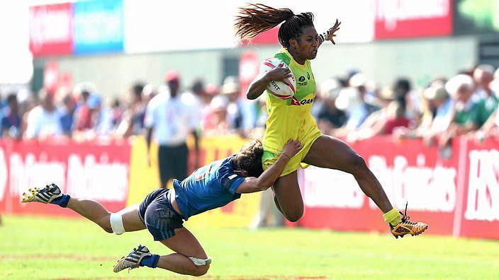 FIJIAN-BORN FLIER: Australia women's sevens speedster Ellia Green.