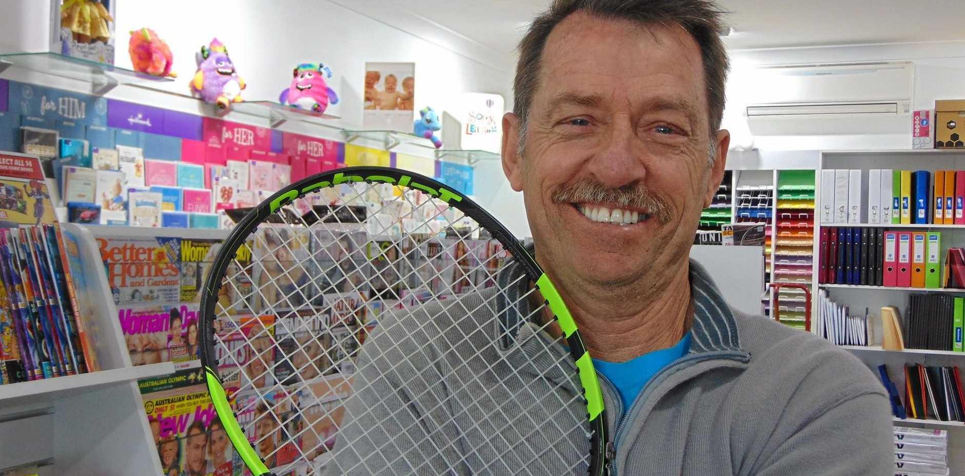 FIRST LOVE: Wurtulla News owner Gavin Yarrow has resumed his tennis coaching career.