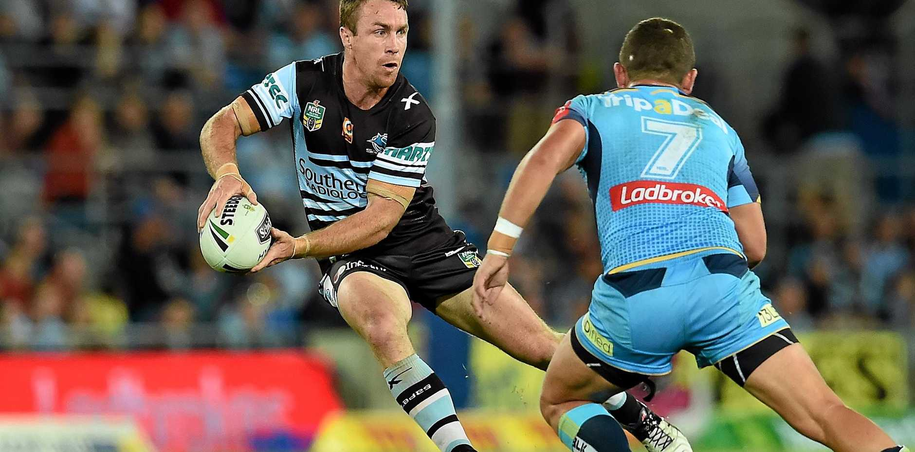 ON DECK: James Maloney of the Cronulla Sharks avoided suspension this week.