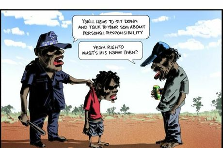 A cartoon by the late Bill Leak, which was subject to complaint.