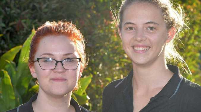 WHAT'S ON: Mia Etelaaha, 20, and Tahlia Evans, 20, want to be entertained.