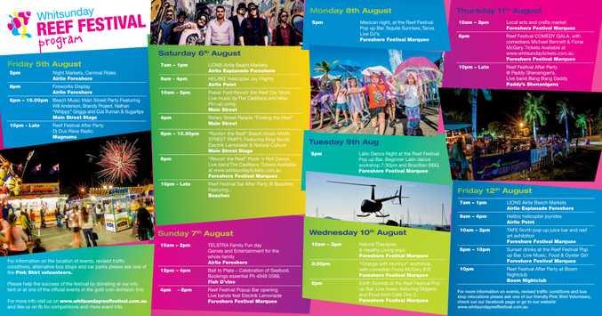 The 2016 Reef Festival program