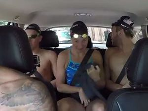 US swim team sing it loud with Carpool Karaoke