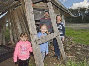 Children explore Bull's Head Inn
