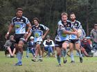 Woolgoolga Seahorses hooker Matt Grayson makes a dart from dummy half against the Nambucca Heads Roosters. Group 2 rugby league Woolgoolga Spotsground 7 August 2016
