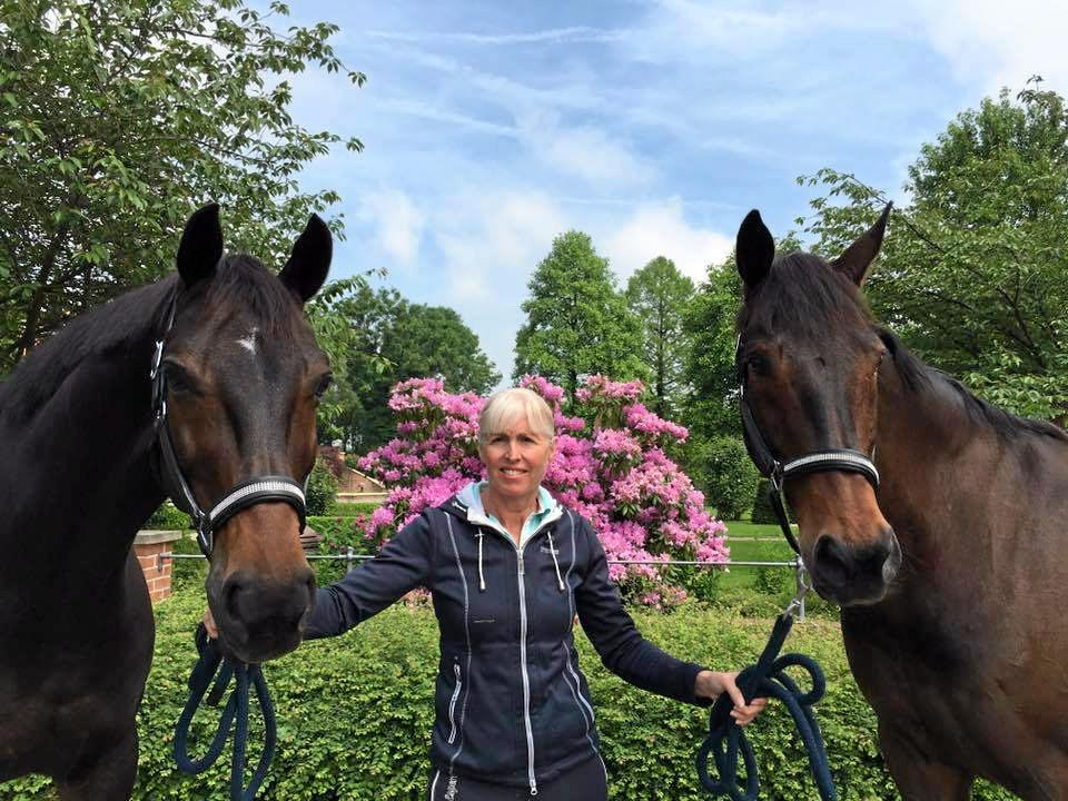 DISTINGUISHED CAREER: Mary Hanna with Boogie Woogie 6 and Umbro, which are both qualified to compete at Rio. Hanna, 61, will be competing in her fifth Olympics and is Australia's oldest competitor at the Games.