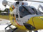 An RACQ LifeFlight Helicopter.