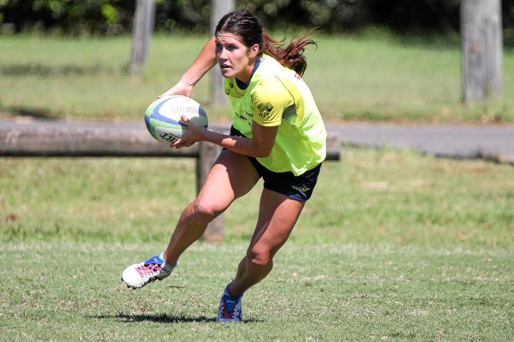 Charlotte Caslick scored two of the tries for Australia against Spain.