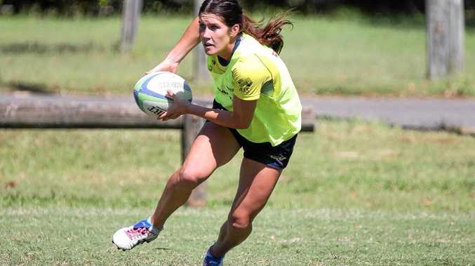 Charlotte Caslick scored three tries against Colombia.