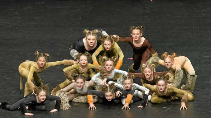 The Allstar Dance group in the 12 years or under Novelty/Acrobatic Group.