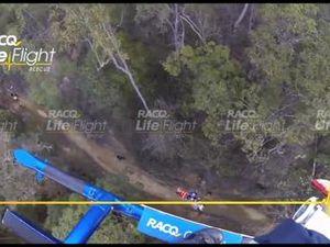 LifeFlight airlift injured motorcyclist