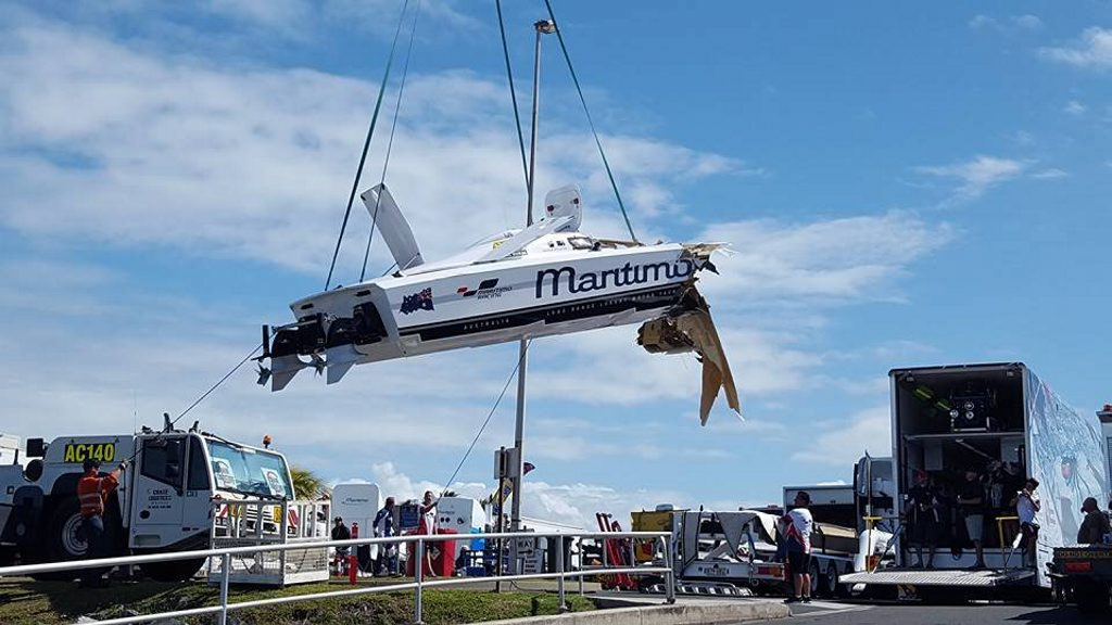 Manda Key posted this photo on Facebook of the boat being lifted from the waterPhoto: Contributed