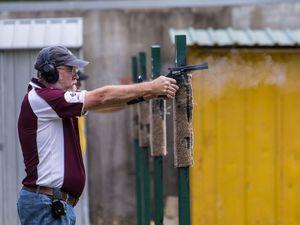 Service pistol round