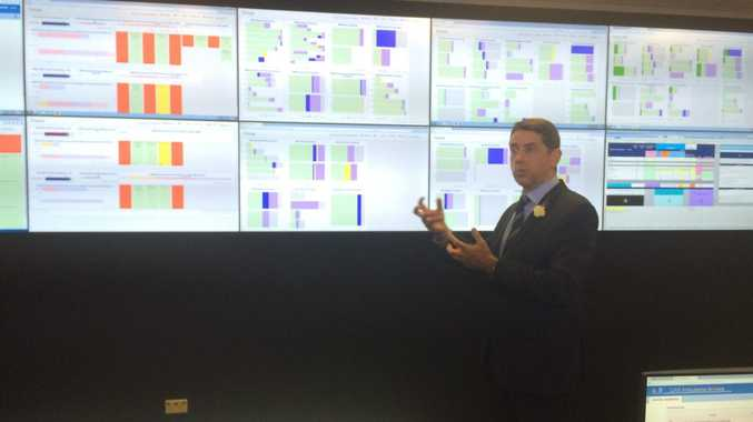 Queensland Health Minister Cameron Dick in the Royal Brisbane and Women's Hospital Patient Assessment Control Hub.