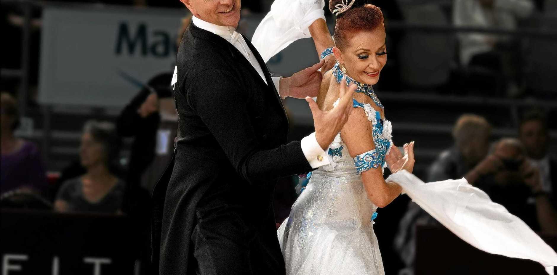 Award-winning ballroom dancers David and Irena Brooks.