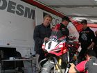 RACING PRO: Now in racing retirement, Troy Bayliss is on board helping out other riders as part of the Ducati team.