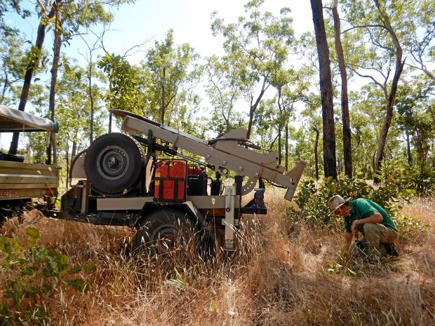 Custom-built diesel-powered soil coring rigs suited to off-road use are now being used by the Department of Land Resource Management for agricultural soil mapping projects such as the Wildman River study.