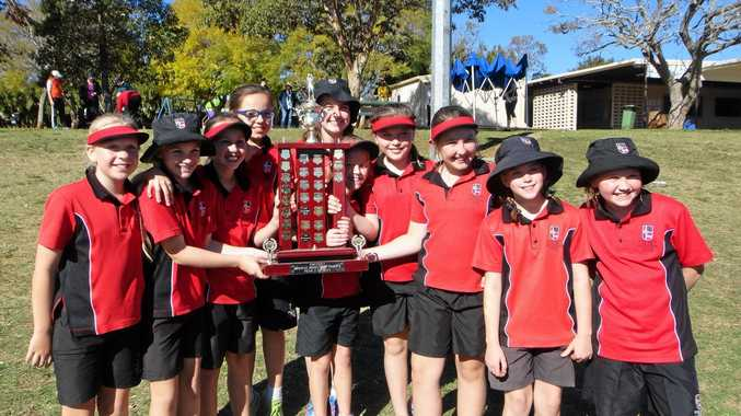 UNBEATABLE: The OLSCC Year 5 Netball team won the Catholic School Netball Competition in Toowoomba.