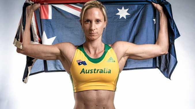 Ready to go ... Pole vaulter Alana Boyd of Australia