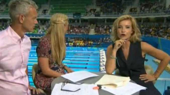 Mark Foster, Rebecca Adlington and Helen Skelton