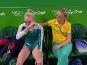 "Olympic gymnast ""crushed"": 'I took a risk out on the floor'"