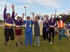 Cancer Council Relay For Life at the Nambour Showgrounds.The TAFE East Coast team-Phillipa, Tim, Liffy, Naomi, Karen, Tash and Tina