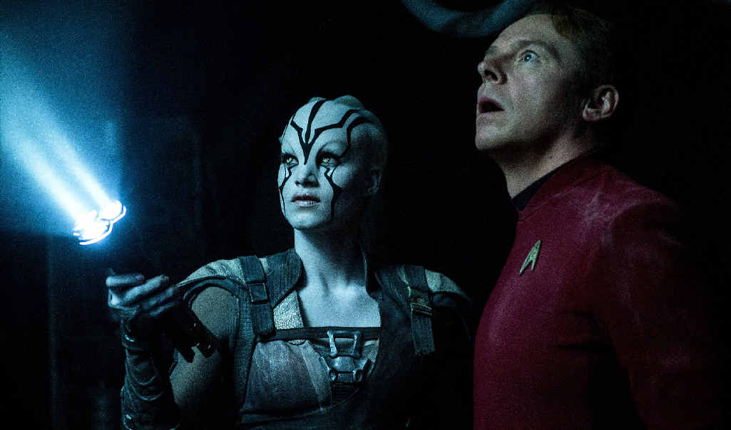 TREK IS BACK: Sofia Boutella and Simon Pegg in a scene from the movie Star Trek Beyond.