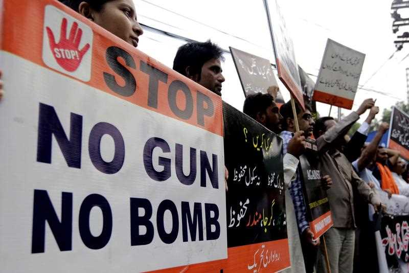 At least 63 people mostly lawyers including two journalists were killed when a bomb exploded when dozensof lawyers and journalists gather outside the civil hospital following the assasination of lawyers senior fellow in a target killing in Quetta, 08 August 2016.