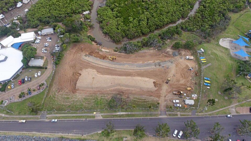 Work on the Yeppoon Foreshore is progressing with works at the old hospital site complete.