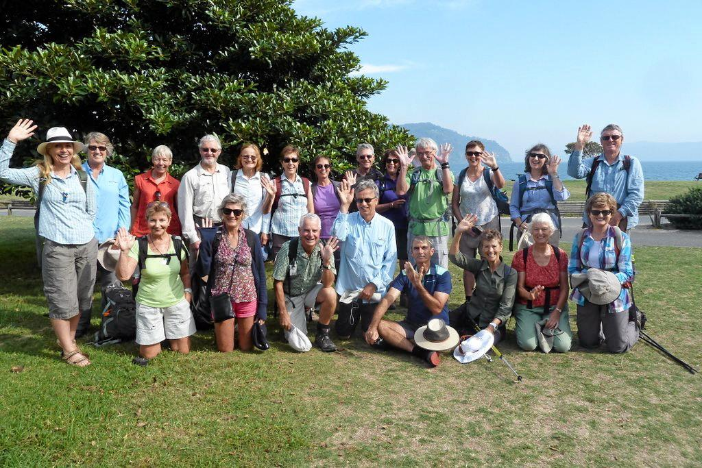 Northern Rivers Bushwalkers at the start of the Sydney Coastal Walk at Palm Beach.