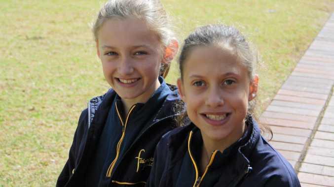Medal winning runners Mia (left) and Celeste Pratt.