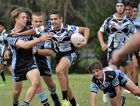 SWOOP IN': Merrick Rainbow-Skinner bagged a try in the Lower Clarence Magpies six point loss to the Ballina Seagulls.
