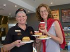 Alison Keale enjoys the gluten free option at Beefy's Pies the most. She's pictured here with manager of the new Maroochydore store Jill Rae, shortly after it opened.