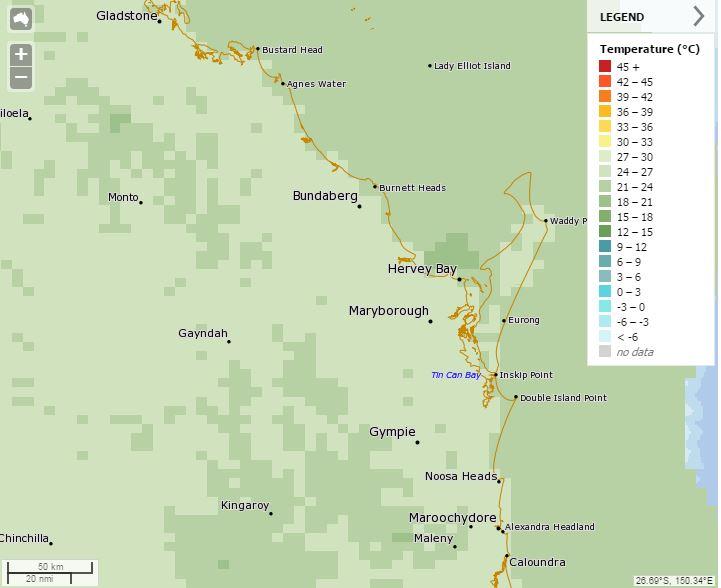 A screenshot of the MetEye map.