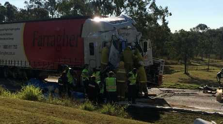 ANOTHER ONE: One of the many serious accidents on Gladstone region roads this year that's left victims with severe injuries.