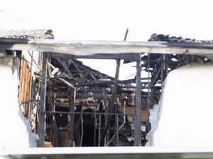 Aftermath of unit fire at Bundamba