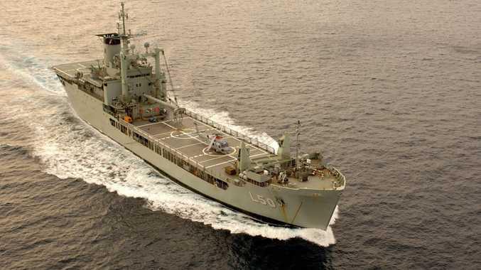 HMAS Tobruk at sea.Photo: contributed