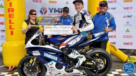 James Creek rider Luke Mitchell recorded his first race win in the Australian Superbike Supersport Championship at Morgan Park, Warwick on Sunday, 7th of August, 2016.